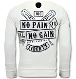 Local Fanatic Rhinestones Sweater Heren - Sons of Anarchy Trui - Wit