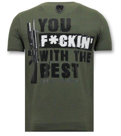 Local Fanatic Exclusieve T-shirt Mannen - Shooting Duck Gun - Groen