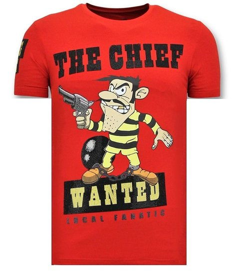 Local Fanatic Exclusieve  T-Shirt Heren - The Chief Wanted - Rood