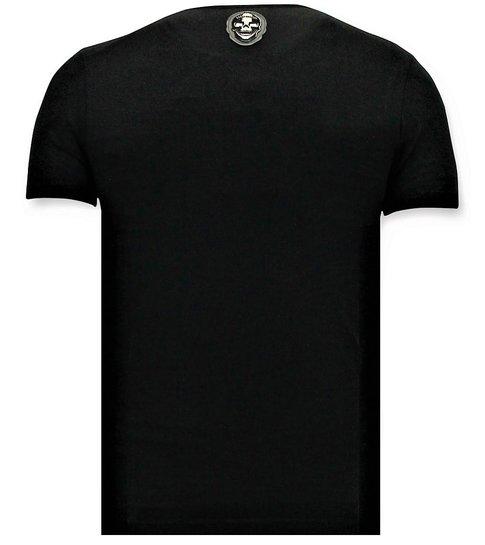 Local Fanatic Coole T-shirt Mannen - Pablo Escobar El Patron - Zwart