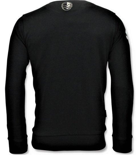Local Fanatic Heren Sweater -  Transformers Print - Zwart