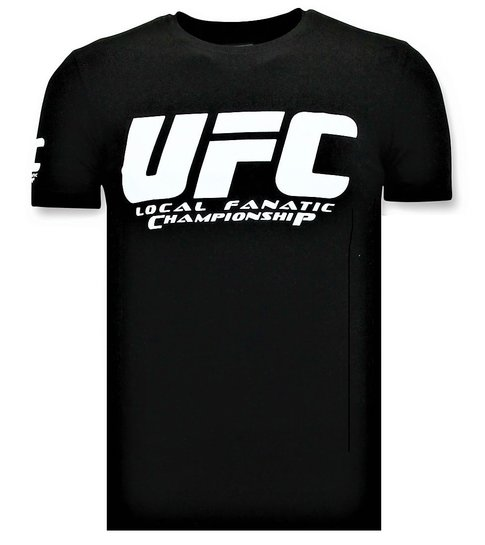 Local Fanatic T-shirt Heren - UFC Championship Print - Zwart