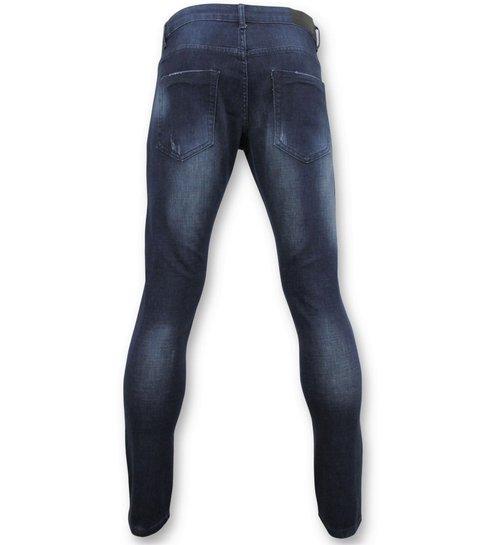 TRUE RISE Basic Jeans - Man Spijkerbroek Washed - D3017 - Blauw