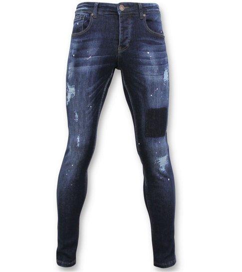 TRUE RISE Basic Jeans Mannen - Spijkerbroek Washed - D2432 - Blauw