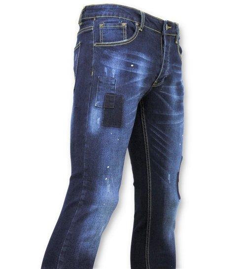 TRUE RISE Strakke Heren Jeans - Biker Jeans Mannen - 5029 - Blauw