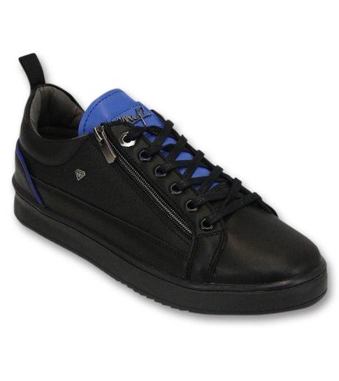 Cash Money Heren Sneakers - Maximus Black Blue - CMS97 - Zwart/Blauw