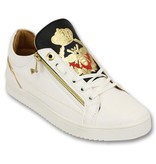 Cash Money Heren Sneakers - Prince White Black- CMS97 - Wit