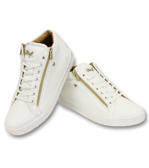 Cash Money Heren Sneaker - Bee White Gold 2- CMS98 - White