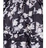 PARISIAN Floral Frill Trim Tiered Long Sleeve Dress  - Dames  - Zwart
