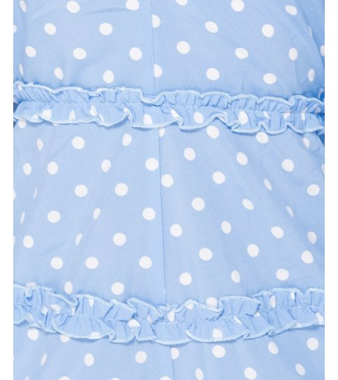PARISIAN Polka Dot Frill Detail Open Back Playsuit - Dames  - Blauw