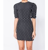 PARISIAN Polka Dot Puffed - Bodycon Mini Dress - Dames - Zwart