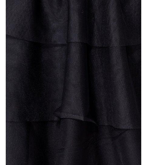 PARISIAN Lace Panel Multi Tier Mesh Mini Dress - Dames - Zwart
