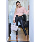 CATWALK Poppy Knitted Tassle Jumper Top - Dames - Roze