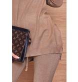 CATWALK Pixie Grey Two Piece Loungewear Set - Dames - Bruin