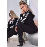 CATWALK Tanya Hooded Loungewear Jumpsuit - Dames - Zwart