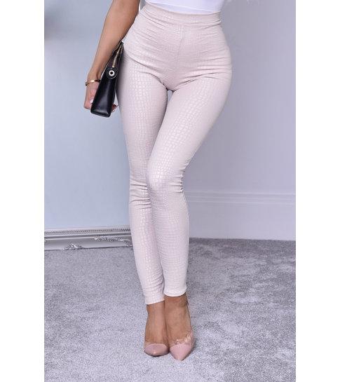 CATWALK Ayana Animal Print Trousers - Dames - Beige