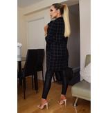 CATWALK Diana Checked Longline Jacket - Dames - Zwart