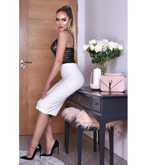 CTW Kellie PU Midi Skirt - Dames - Wit