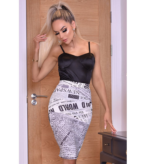 CTW Misha Ivory Midi Skirt - Dames - Beige