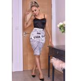 CATWALK Misha Ivory Midi Skirt - Dames - Beige