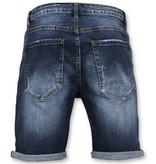 Enos Korte Broek Heren - Jeans Short - 9082 - Blauw