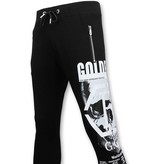 ENOS Joggingbroek Heren Slim Fit -  Sweatpants Skull - Zwart