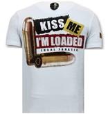 Local Fanatic Heren T shirt met Opdruk - Trust No Bitch - Wit