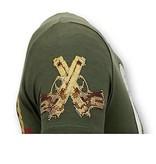 Local Fanatic Luxe Heren T shirt  - Trust No Bitch - Groen