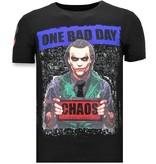 Local Fanatic Luxe Heren T-shirt - The Joker Man - Zwart