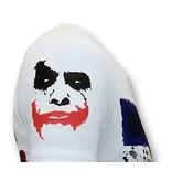 Local Fanatic Stoere Heren T-shirt - The Joker Man - Wit