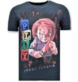 Local Fanatic Luxe Heren T-shirt  - Chucky Childs Play - Navy