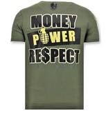 Local Fanatic Luxe Heren T-shirt  - Cosa Nostra Mafioso - Groen