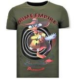 Local Fanatic Stoere Heren T-shirt - Crime Empire - Groen