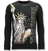 Local Fanatic Exclusieve Sweater Heren - The Rebel - Zwart