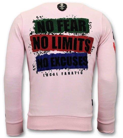 Local Fanatic Exclusieve Sweater Heren - The Joker Man - Roze