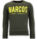 Local Fanatic Exclusieve Sweater Mannen - Narcos Trui - Groen