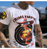 Local Fanatic Luxe Heren T-shirt - Crime Empire - Wit