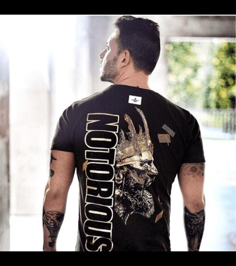 Local Fanatic Notorious King - Conor McGregor McGregor Rhinestone T-shirt - Zwart
