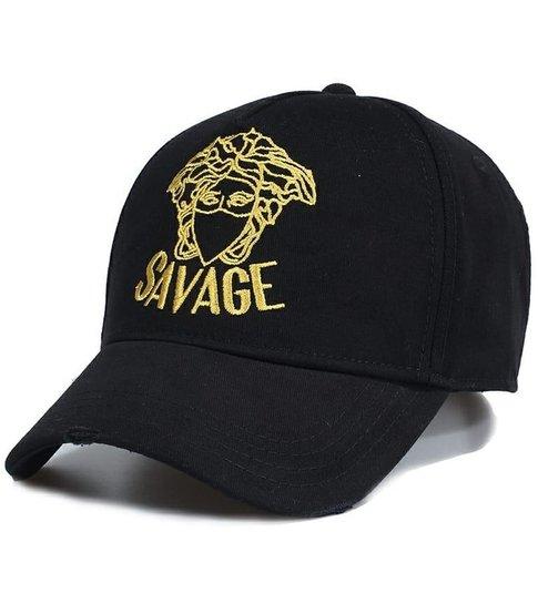 Enos Baseball Cap Heren - Savage - Zwart