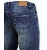TRUE RISE Classic Basic Spijkerbroek Heren - D-3021 - Blauw