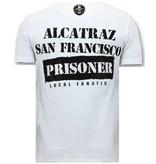 LF Heren T-shirt Exclusief - Alcatraz Prisoner  - Wit