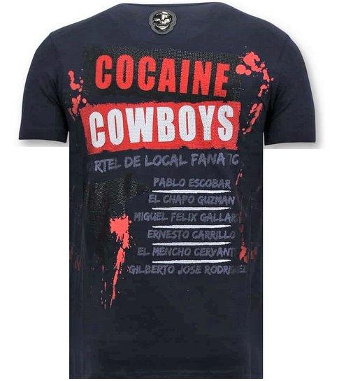 LF Exclusieve Heren T-shirt  - Los Jefes De Narcos - Blauw