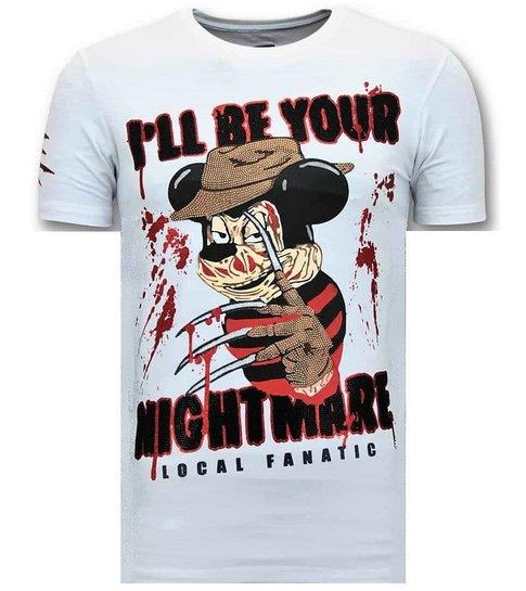 LF Luxe Heren T shirt  - Freddy Krueger - Wit