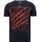 LF Stoere Heren T-shirt - Freddy Krueger - Blauw
