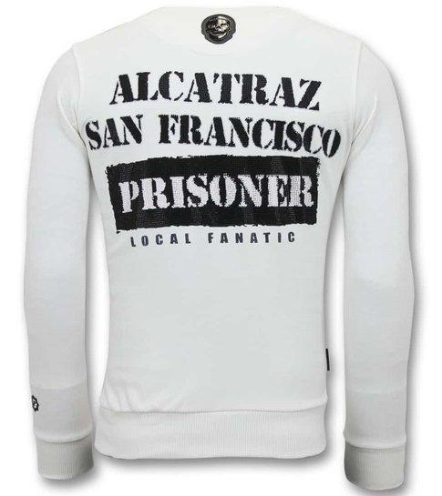 LF Exclusieve Sweater Heren - Alcatraz Prisoner - Wit