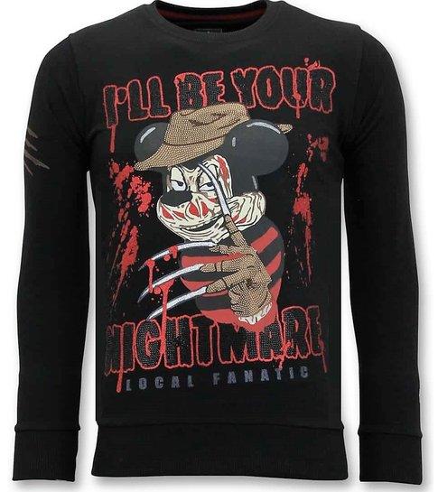 LF Exclusieve Sweater Heren - Freddy Krueger - Zwart