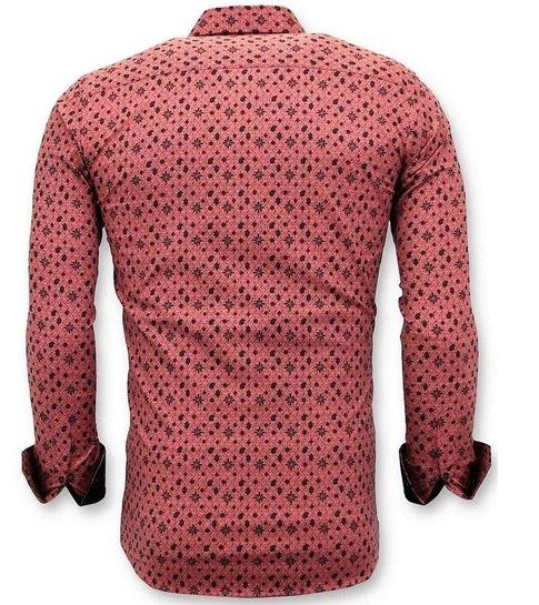 TONY BACKER Zakelijke Heren Overhemd -  Slim Fit - 3044 - Rood