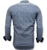 TONY BACKER Getailleerde Overhemden Mannen -  Slim Fit - 3045 - Blauw