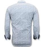 TONY BACKER Exclusieve Italiaanse Heren Overhemd -  Slim Fit - 3048 - White