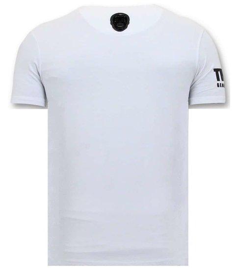 Local Fanatic Exclusieve T-shirt Heren - Padrino Corleone - Wit